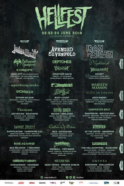 Концерт Hellfest Open Air 2018 (22,23,24 Июля, Клиссон, Франция)